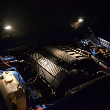 Engine bay light.