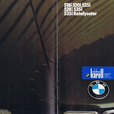 1985 518i 520i 525i 528i 535i brochure – Germany