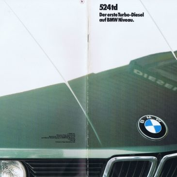 1985 524td brochure – Germany