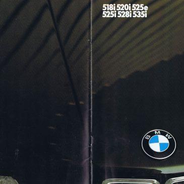 1986 518 520i 525e 525i 528i 535i  brochure