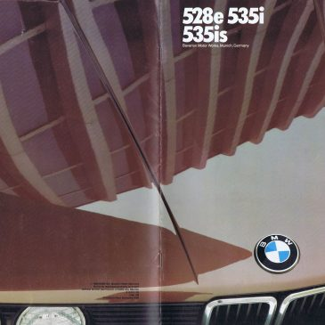 1986 528e 535i 535is brochure – USA