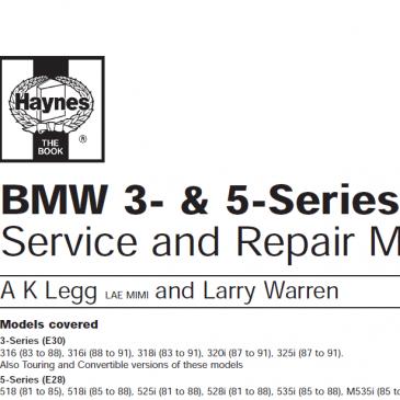 Haynes complete manual 3er and 5er.