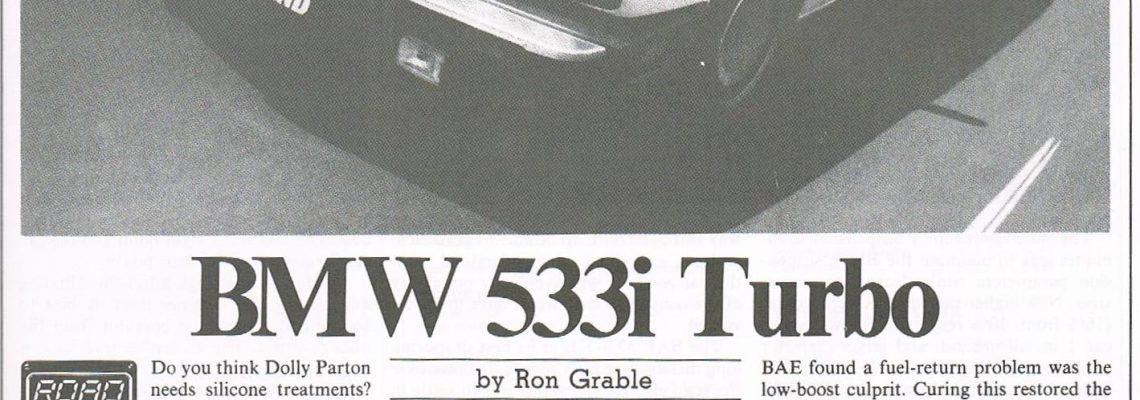 BMW 533i Turbo