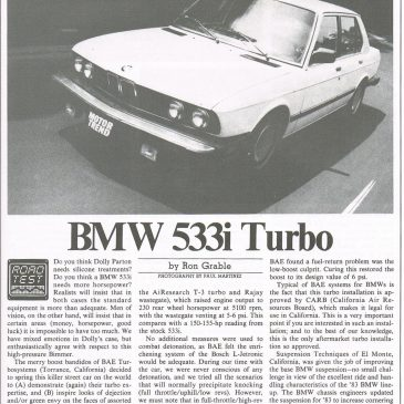 BMW 533i Turbo