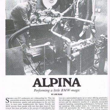 Alpina – performing a little BMW-magic