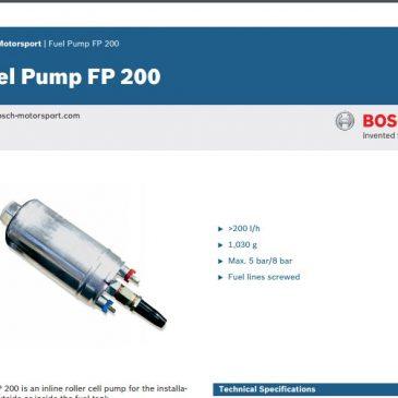 Bosch Fuel Pump FP 200 Datasheet (a.k.a the 044)