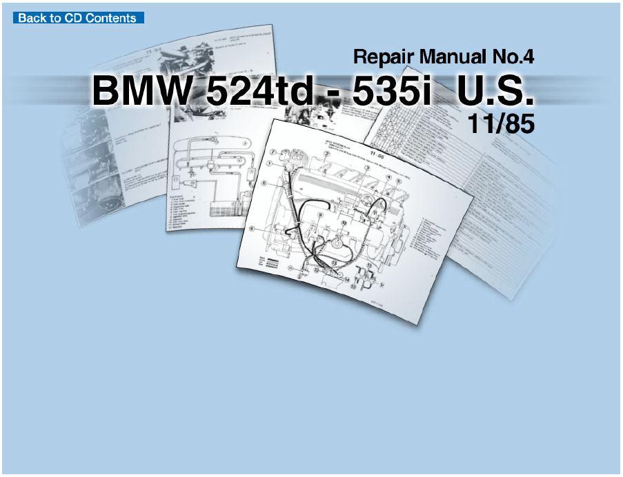 BMW E28 525 524TD 535 US REPAIR MANUAL