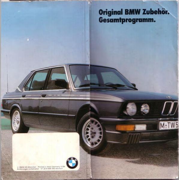 Original BMW Equipment and accessories brochure