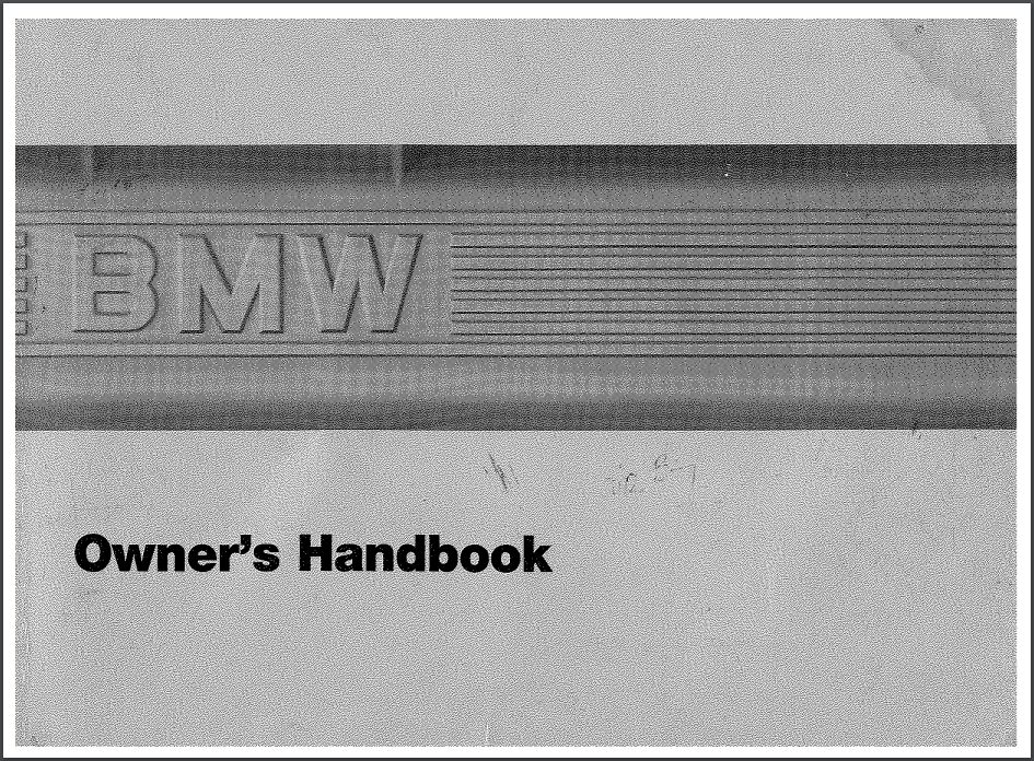 Bmw 528e 535i M5 owners handbook