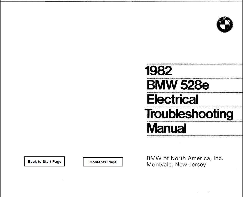 E28 528 Electrical troubleshooting manual 1982