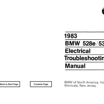 E28 528e/533i Electrical troubleshooting manual 1983