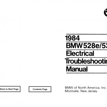 E28 528e/533i Electrical troubleshooting manual 1984