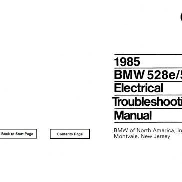 E28 528e/535i Electrical troubleshooting manual 1985