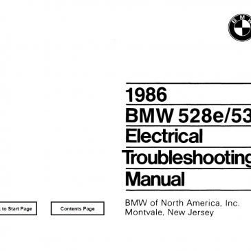 E28 528e/535i Electrical troubleshooting manual 1986
