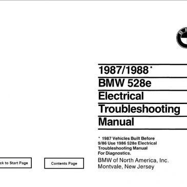 E28 528e Electrical troubleshooting manual 1987