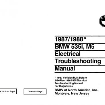 E28 535i/M5 Electrical troubleshooting manual 1988