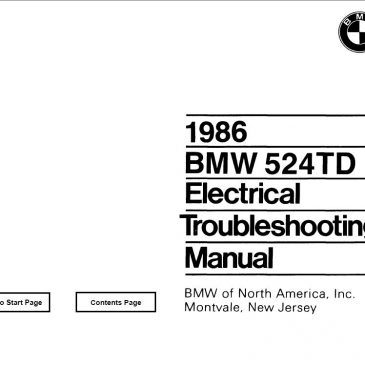 E28 524TD Electrical troubleshooting manual 1986