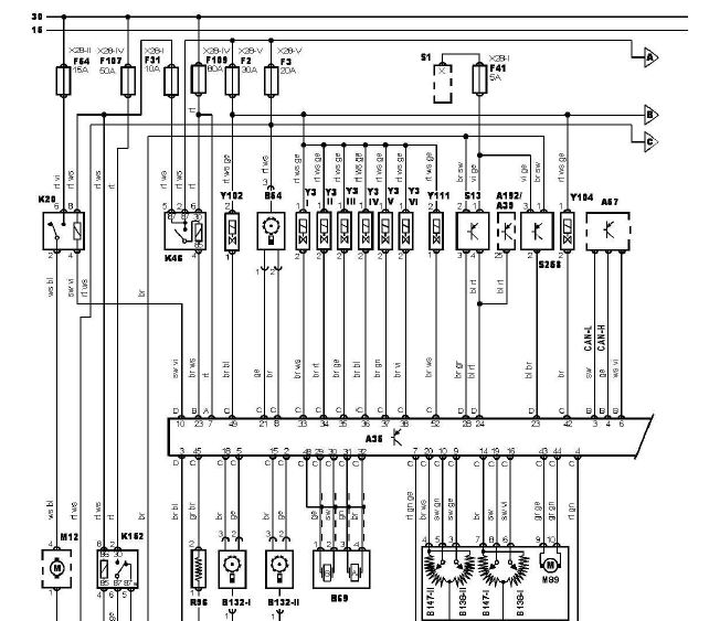 m52b28 wiring diagram (e39), version 1 - e28 goodies asc bmw e39 wiring diagram
