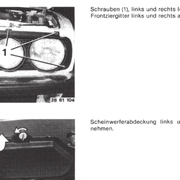 BMW E28 factory accesories installation manuals
