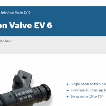 Injection Valve EV 6 – Datasheet