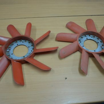Old fashion OEM red fans.