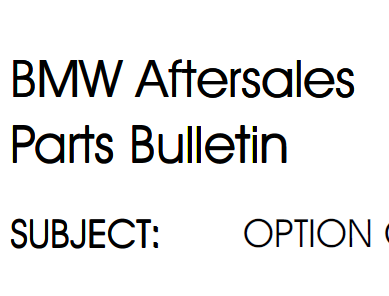 BMW options list
