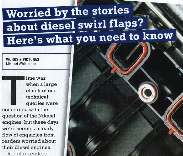Diesel swirl flaps.
