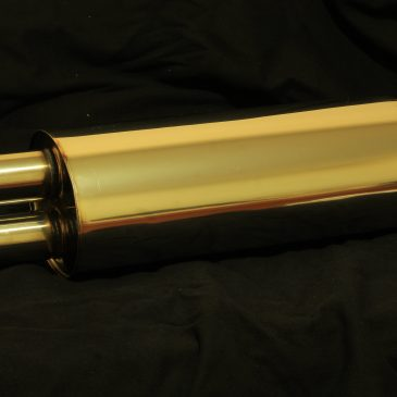 Your Custom е28 stainless muffler with free worldwide shipping.