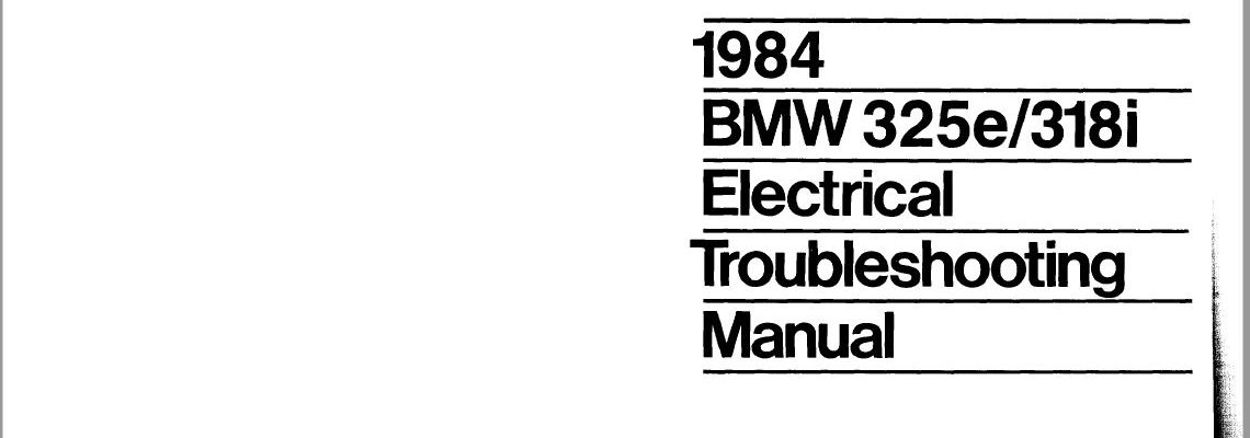 bmw e30 wiring diagrams '84 pdf  e28 goodies