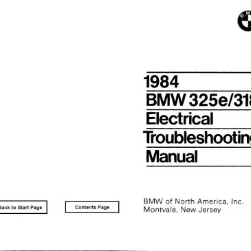 BMW e30 wiring diagrams '84 PDF