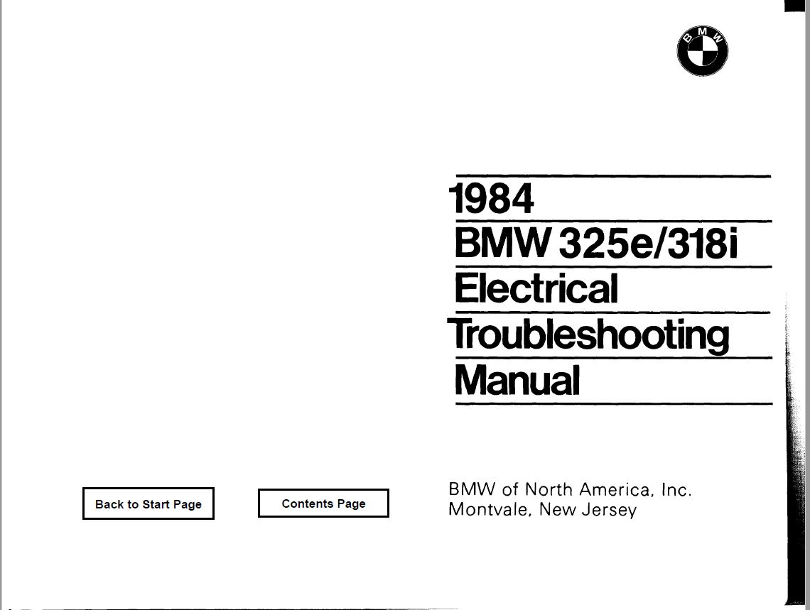 Bmw E30 Wiring Diagrams  U0026 39 84 Pdf