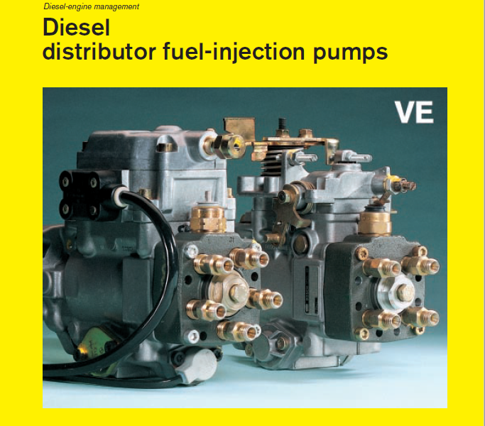 Bosch VE injection pumps – technical description and principle of operation