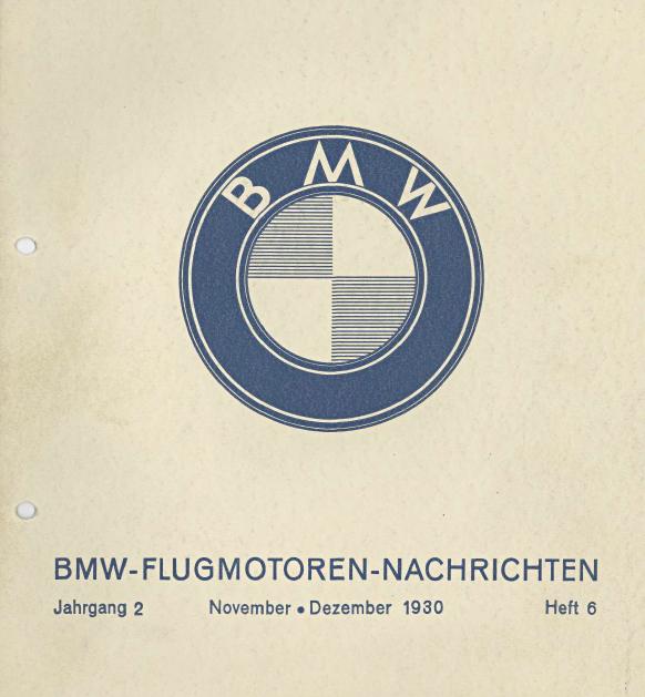 BMW Flugmotoren – Nachrichten. September – Oktober 1930