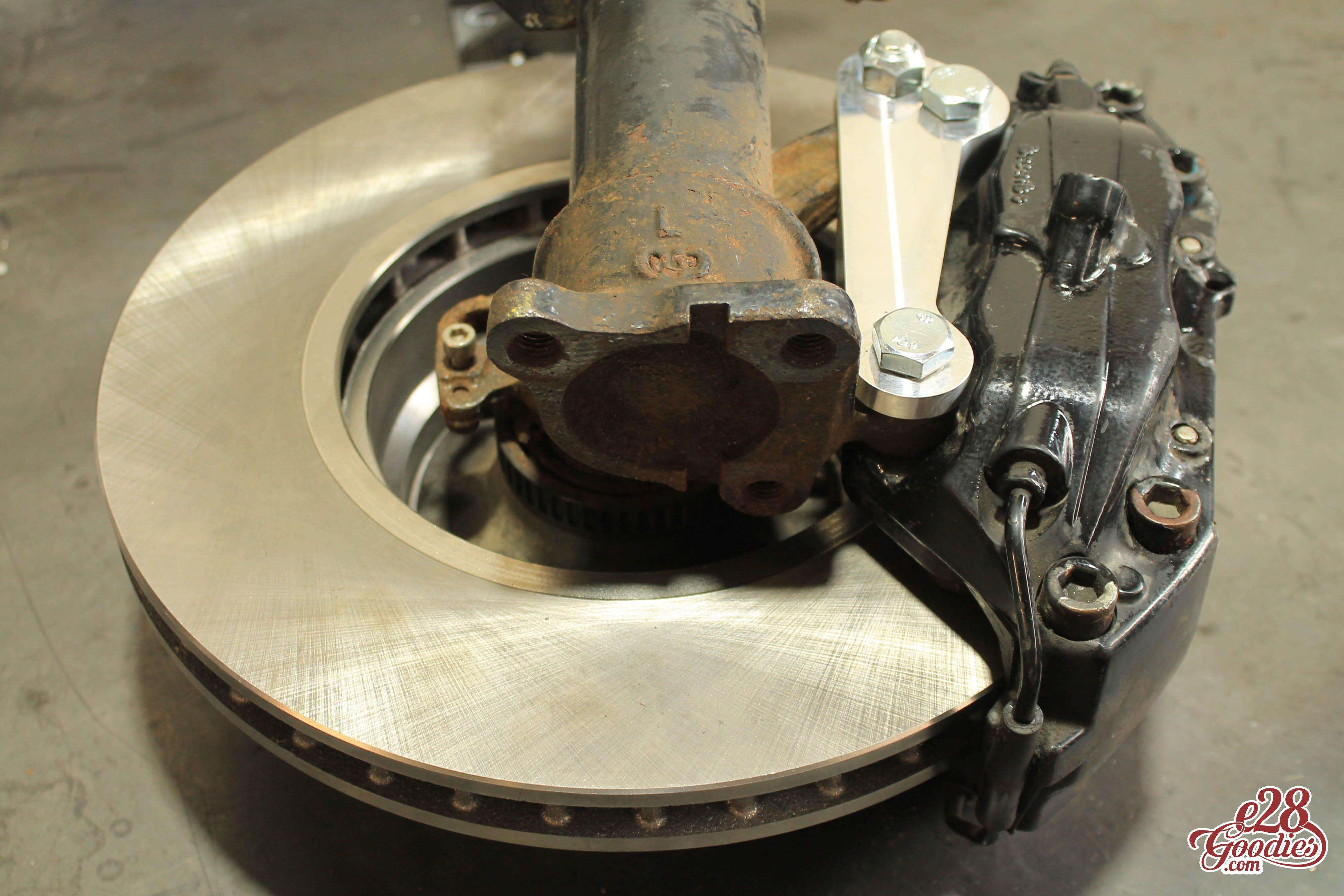 e38 Four pot brembo caliper adapters for your e28/e34