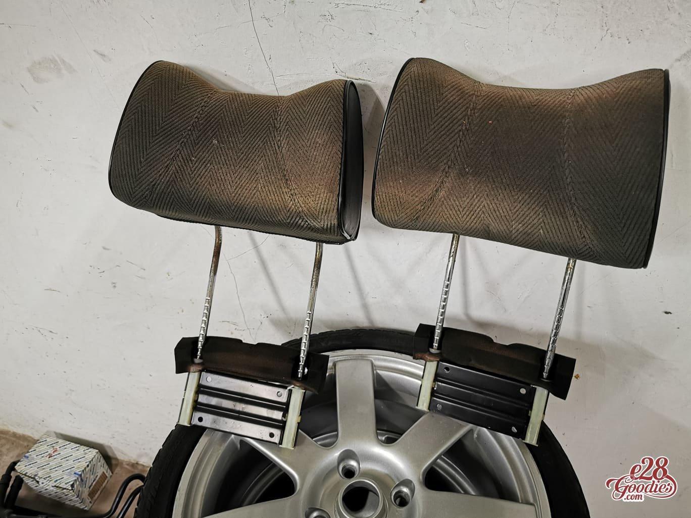 Rear headrests.